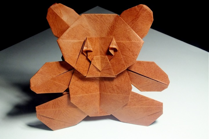 3D origami teddy bear | Paper crafts diy, 3d origami, Origami | 480x720